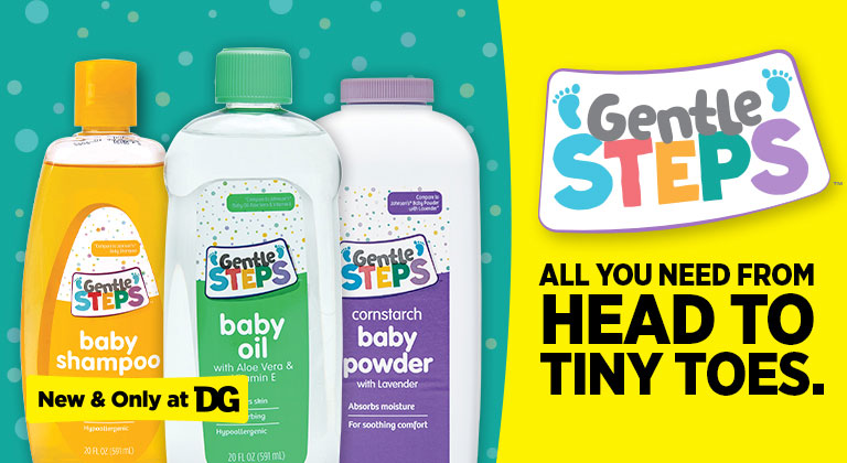 Shop New Gentle Steps Items at dollar general