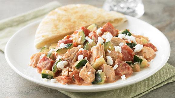 Easy Mediterranean Chicken Salad