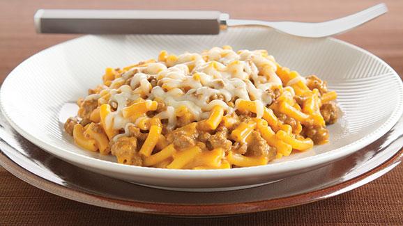 Mac & Cheese Skillet Lasagna