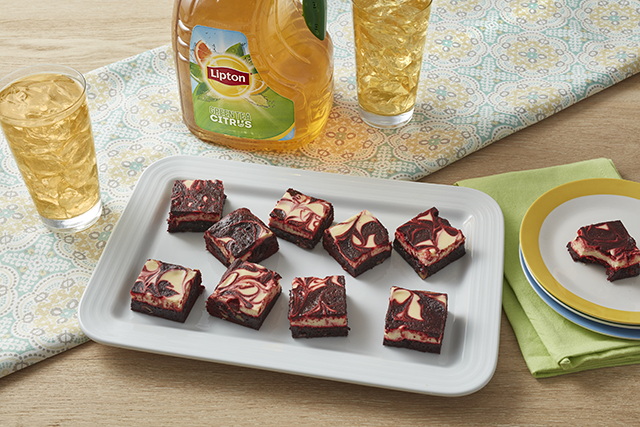 Sunny's Easy Red Velvet Swirl Brownies