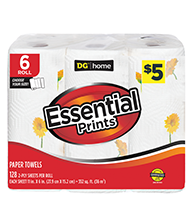 DG Essentials Prints Spring Paper Towel