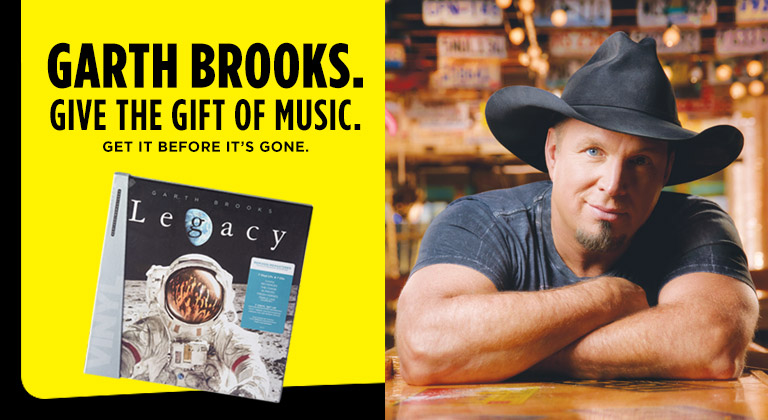 Garth Brooks Legacy Collection albums available at Dollar General while supplies last.