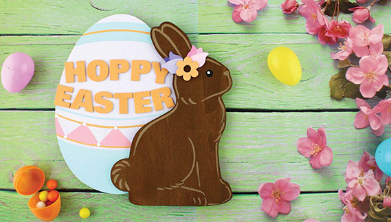 Wooden Easter Decor Craft