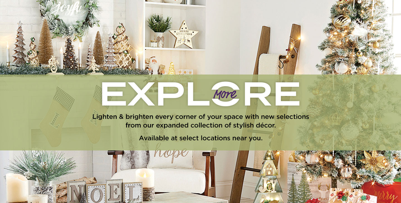 Explore More! New Décor.